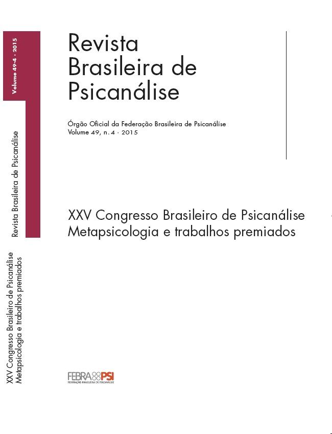 XXV Congresso Brasileiro de Psicanálise – Metapsicologia e trabalhos premiados