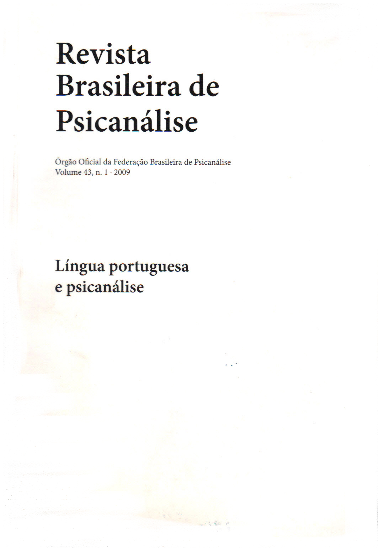 Língua portuguesa e psicanálise