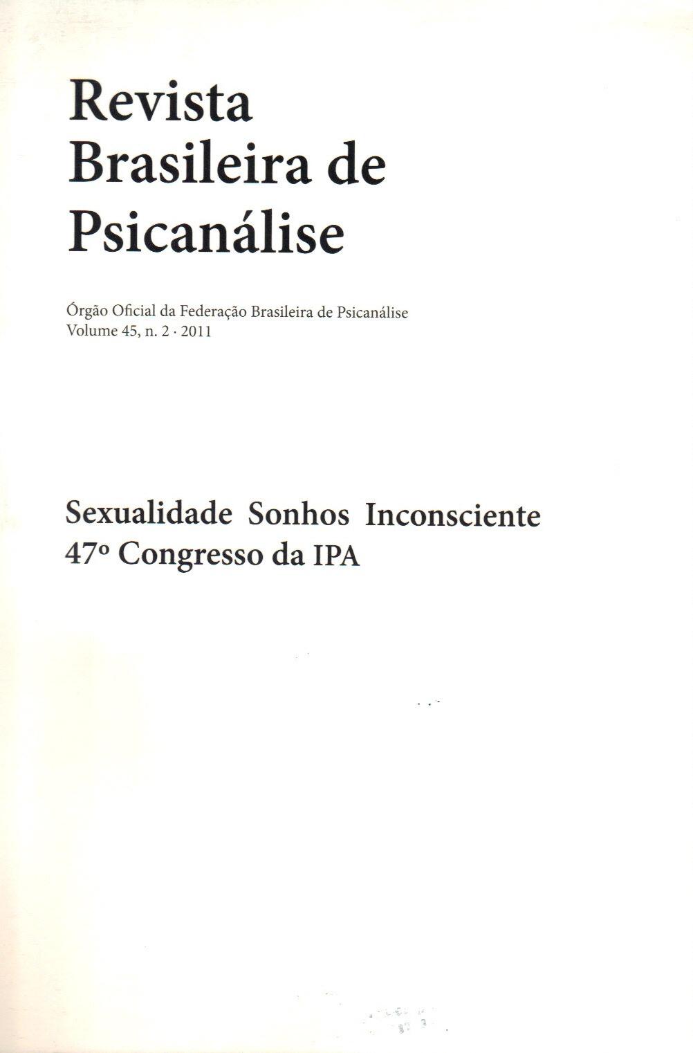 Sexualidade Sonhos Inconsciente 47º Congresso da IPA