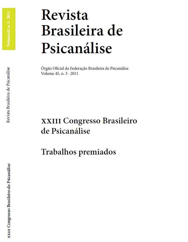 XXIII Congresso Brasileiro de Psicanálise – Trabalhos premiados